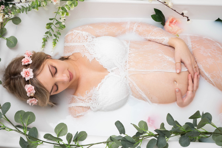 photographe-bain-de-lait-grossesse-perpignan-66